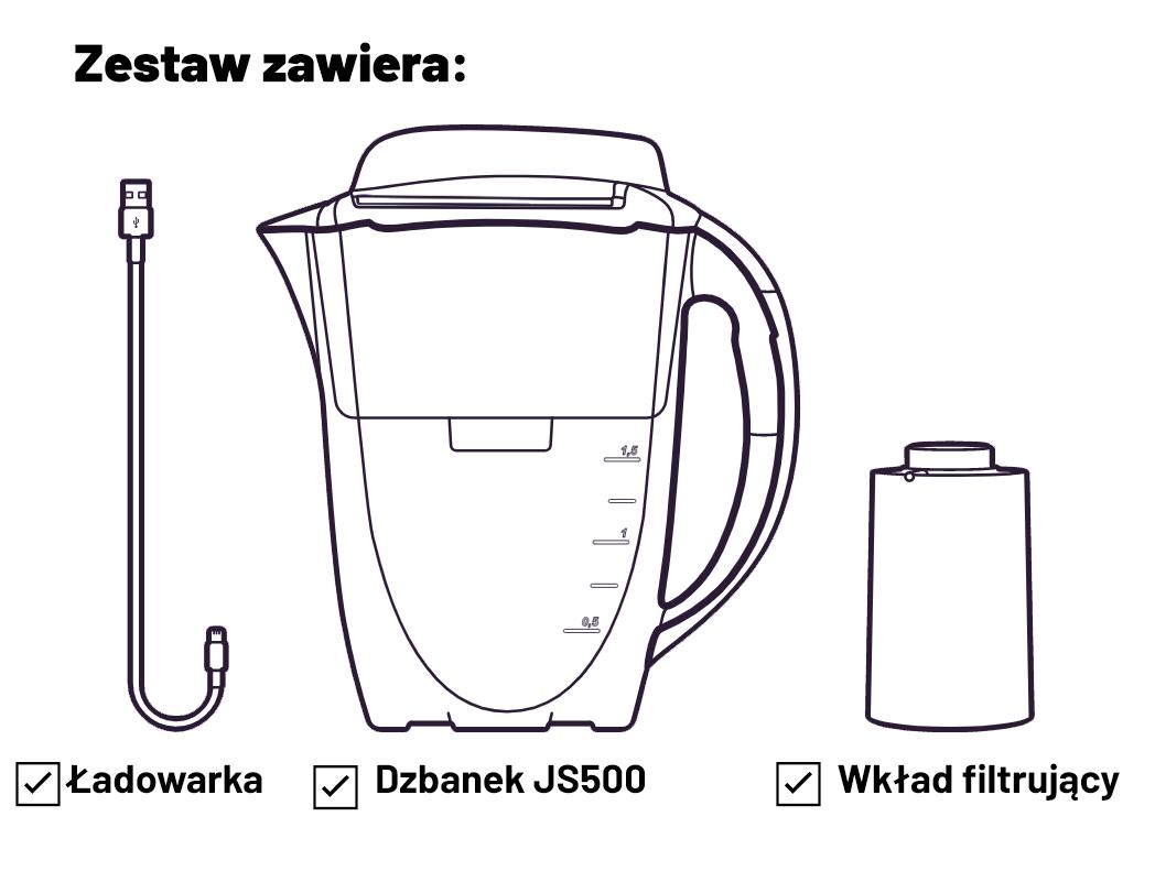 JS500 zestaw zawiera