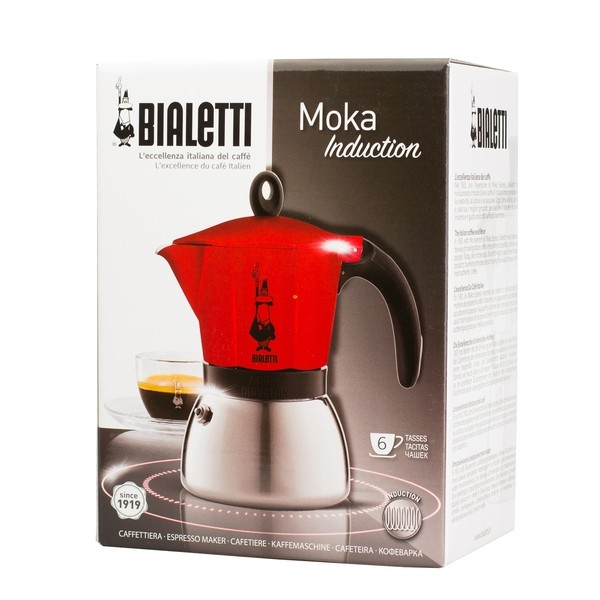 bialetti moka induction red